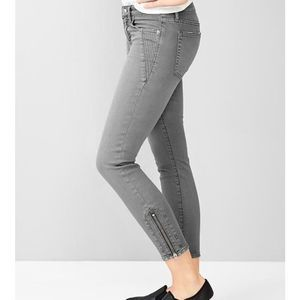 GAP 1969 Moto Always Skinny Zipper Ankle Jeans